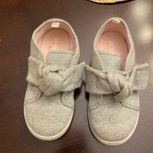 Size 11 grey girls Velcro carters sneakers